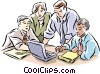 Vector Clip Art picture  of a Group of business people