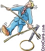 Vector Clip Art image  of a balancing act