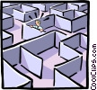 maze Vector Clipart graphic