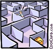 Vector Clip Art picture  of a Maze with a goal at the end