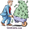 making money Vector Clip Art image