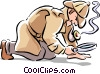Vector Clipart graphic  of a detective