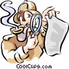 Vector Clip Art graphic  of a detective