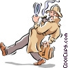 Vector Clipart illustration  of a detective