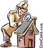 detective Vector Clip Art graphic