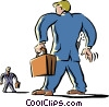 Vector Clip Art graphic  of a men one small man one big man