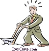 plowing Vector Clipart illustration