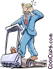 communications/man on treadmill Vector Clipart graphic