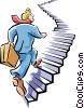 Vector Clipart picture  of a climbing to the top