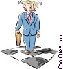 confusion Vector Clipart illustration