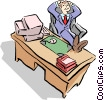 man at the office Vector Clipart illustration