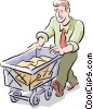 man working Vector Clipart picture
