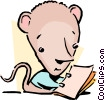Vector Clip Art picture  of a cartoon mouse
