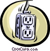 Vector Clip Art image  of a electric outlet