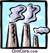 smoke stacks Vector Clipart image