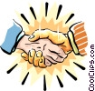 Vector Clip Art graphic  of a the golden handshake