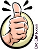 thumbs up Vector Clip Art graphic