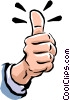 Vector Clipart illustration  of a thumbs up