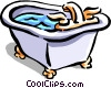 Vector Clip Art image  of a bath tub