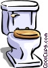 Vector Clipart graphic  of a toilet