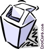 Vector Clip Art graphic  of a waste paper basket