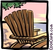 Vector Clipart illustration  of a Lounge chair