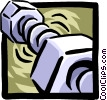 Vector Clipart picture  of a nuts and bolts