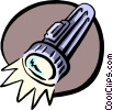 flashlight Vector Clip Art graphic