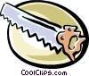saw Vector Clipart illustration