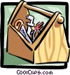 Vector Clip Art graphic  of a toolbox