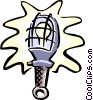 safety light Vector Clipart illustration