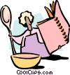 Vector Clip Art image  of a cooking