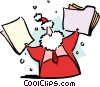 Vector Clip Art image  of a Santa Clause