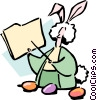 Vector Clipart graphic  of a Easter bunny