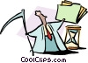 Vector Clipart graphic  of a man with folder