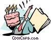 office birthday Vector Clipart illustration