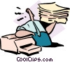 Vector Clip Art graphic  of a stack of printouts