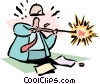Vector Clipart illustration  of a shooting for the target