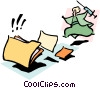 Vector Clipart image  of a getting caught up