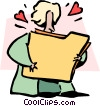 Vector Clipart graphic  of a loving your work
