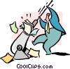 Vector Clip Art image  of a preparing for battle
