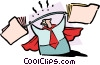 Vector Clipart graphic  of a business/superman