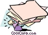 Vector Clip Art image  of a huge workload