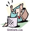 Vector Clip Art graphic  of a recovering