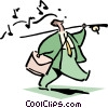 Vector Clip Art picture  of a fishing for ideas