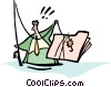 fishing for ideas Vector Clip Art picture