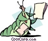 education/cartoon caterpillar Vector Clip Art image