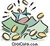 Vector Clip Art graphic  of a finance/money