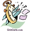 time management Vector Clipart graphic