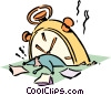 Vector Clipart graphic  of a time management